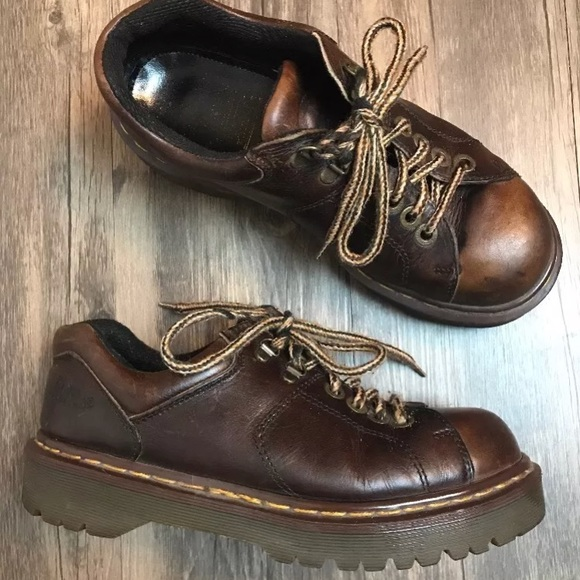 788a5c03656 Dr. Martens Shoes - Doc Marten s Brown Leather 90 s Chunky Sole Shoes